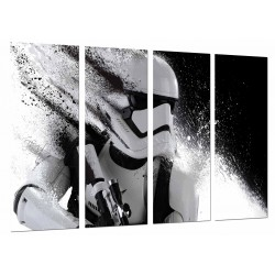 MULTI Wood Printings, Picture Wall Hanging, Star Wars, Helmet Army Darth Vader
