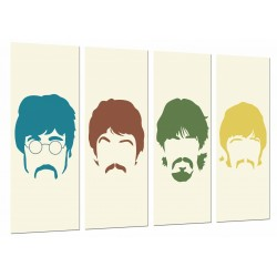 MULTI Wood Printings, Picture Wall Hanging, The Beatles, John Lennon, Paul Mccartney, Famoso, Musica