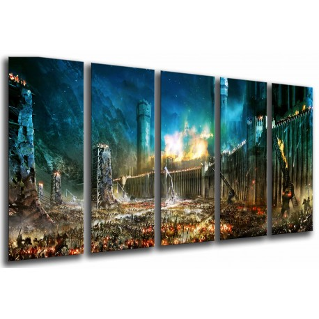 MULTI Wood Printings, Picture Wall Hanging, the Lord of The Rings, Batalla por the Tierra Media