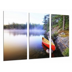 MULTI Wood Printings, Picture Wall Hanging, Ship, Lake, Landscape, Nature