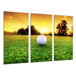 MULTI Wood Printings, Picture Wall Hanging, Golf, Ball, Grass, Sport