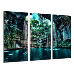 MULTI Wood Printings, Picture Wall Hanging, Lake Subway Natural, Nature, Cenote