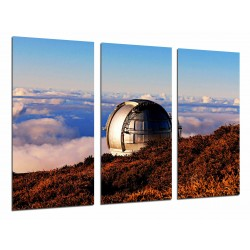 MULTI Wood Printings, Picture Wall Hanging, Astronomy, Sky, Telescope Gran Canarias, Spain