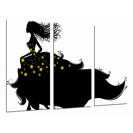 multi wood printings picture wall hanging silhouette princess
