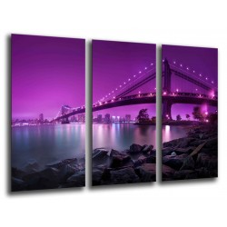 MULTI Wood Printings, Picture Wall Hanging, City San Francisco