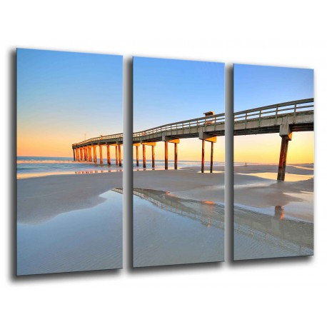 MULTI Wood Printings, Picture Wall Hanging, Landscape Beach Atardecer