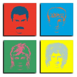 MULTI Wood Printings, Picture Wall Hanging, Queen, Freddie Mercury, Brian May