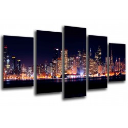 MULTI Wood Printings, Picture Wall Hanging, City New York, New York of noche