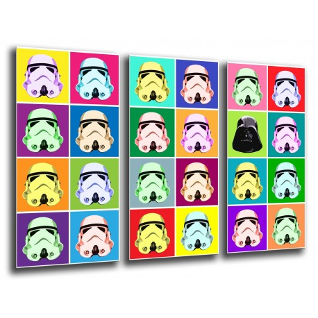 MULTI Wood Printings, Picture Wall Hanging, Star Wars, Army Darth vader