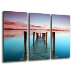 MULTI Wood Printings, Picture Wall Hanging, Landscape Lake Derwentwater, Atardecer