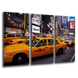 MULTI Wood Printings, Picture Wall Hanging, City New York, New York, Taxi, Manhattan