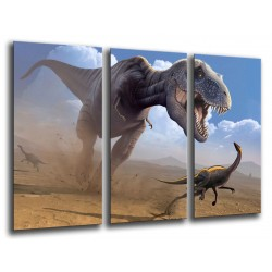 MULTI Wood Printings, Picture Wall Hanging, Dinosaurs, T-REX