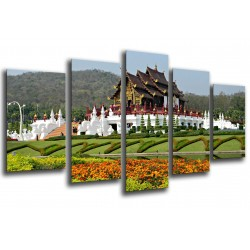 MULTI Wood Printings, Picture Wall Hanging, Park Real Rajapruek, Garden of Chiang-Mai
