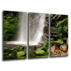 MULTI Wood Printings, Picture Wall Hanging, Landscape Waterfall in Bosque