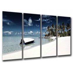 MULTI Wood Printings, Picture Wall Hanging, Landscape of Beach, Sea Suneado