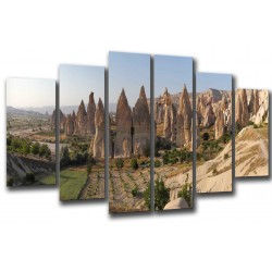 MULTI Wood Printings, Picture Wall Hanging, Landscape Capadocia, Cappadocia