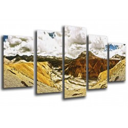 MULTI Wood Printings, Picture Wall Hanging, Landscape Desert Pano