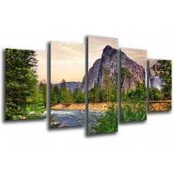MULTI Wood Printings, Picture Wall Hanging, Landscape Forest Yosemite