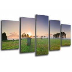 MULTI Wood Printings, Picture Wall Hanging, Landscape of Farming of United States