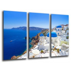 MULTI Wood Printings, Picture Wall Hanging, Landscape Sea, Santorini, Grecia