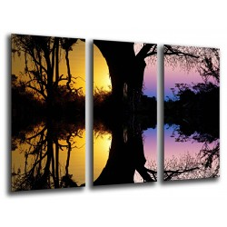 MULTI Wood Printings, Picture Wall Hanging, Sunset in the Bosque