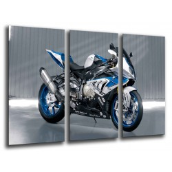 MULTI Wood Printings, Picture Wall Hanging, Motobike BMW Azul