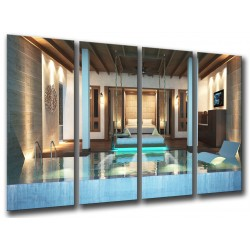 MULTI Wood Printings, Picture Wall Hanging, SPA Relax, relaxation Tropical