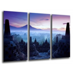 MULTI Wood Printings, Picture Wall Hanging, Temples of Tailandia, atardecer