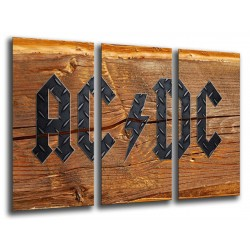 MULTI Wood Printings, Picture Wall Hanging, ACDC, Music Rock