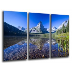 MULTI Wood Printings, Picture Wall Hanging, Landscape in Lake, Nature