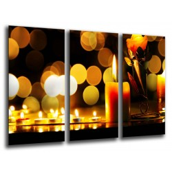 MULTI Wood Printings, Picture Wall Hanging, Candles Relax, Zen, Relajacion