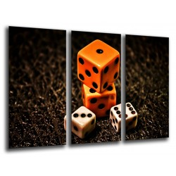 MULTI Wood Printings, Picture Wall Hanging, Game of Dice Vintage