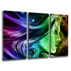 MULTI Wood Printings, Picture Wall Hanging, Wall Print Fantasy Abstracta