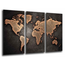 MULTI Wood Printings, Picture Wall Hanging, Map World, Map World Vintage