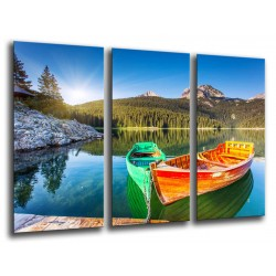 MULTI Wood Printings, Picture Wall Hanging, Landscape Lake, Park National Durmitor