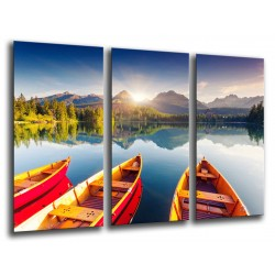 MULTI Wood Printings, Picture Wall Hanging, Landscape Lake National, Park High Tatras