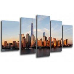 MULTI Wood Printings, Picture Wall Hanging, Landscape City Sunset, City Rascacielos