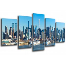 MULTI Wood Printings, Picture Wall Hanging, Landscape City Rascacielos
