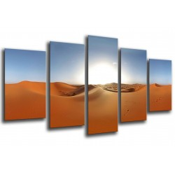 MULTI Wood Printings, Picture Wall Hanging, Landscape Desert, Dunas