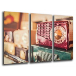 MULTI Wood Printings, Picture Wall Hanging, Radio Vintage, Musica