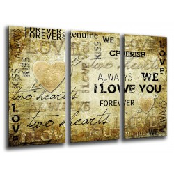 MULTI Wood Printings, Picture Wall Hanging, Letters Words Vintage, Love