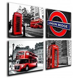 MULTI Wood Printings, Picture Wall Hanging, London, City of Londres