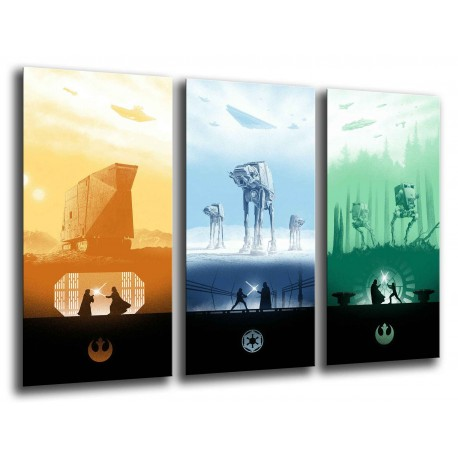 MULTI Wood Printings, Picture Wall Hanging, Star Wars, Darth vader