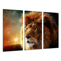 MULTI Wood Printings, Picture Wall Hanging, Lion, Animal, Nature