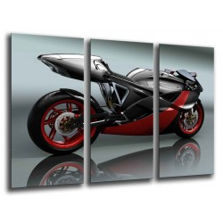 MULTI Wood Printings, Picture Wall Hanging, Motobike Road, Motor