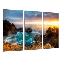 MULTI Wood Printings, Picture Wall Hanging, Creek, Beach Sea, Atardecer