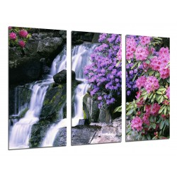 MULTI Wood Printings, Picture Wall Hanging, Landscape Waterfall River, Atardecer