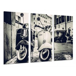 MULTI Wood Printings, Picture Wall Hanging, Motorbikes Vespa Vintage