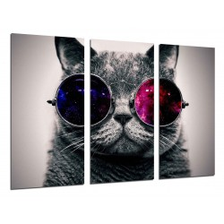 MULTI Wood Printings, Picture Wall Hanging, Cat Lennon, Glasses Vintage