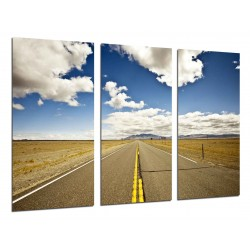 MULTI Wood Printings, Picture Wall Hanging, Road, Rute 66